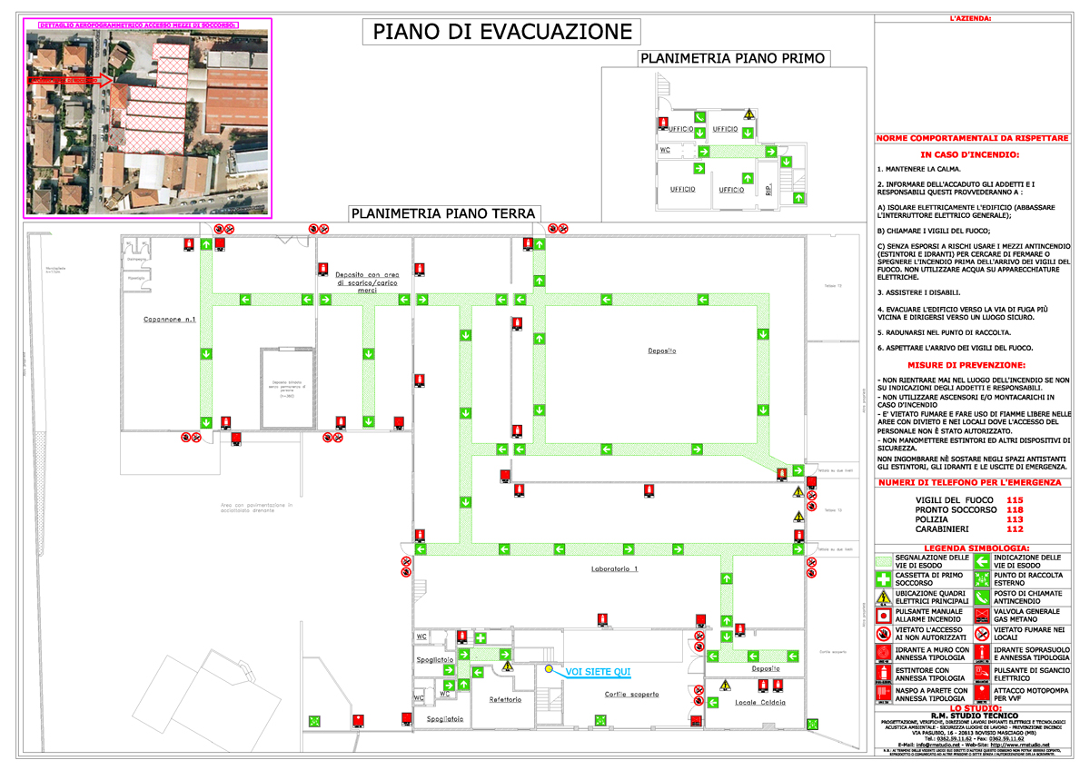 Piano d 39 emergenza for Piano di abbozzo di casa